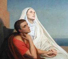 Dos santos contemplan el Cielo
