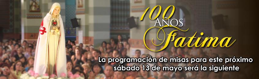 programación de misas 13 de mayo