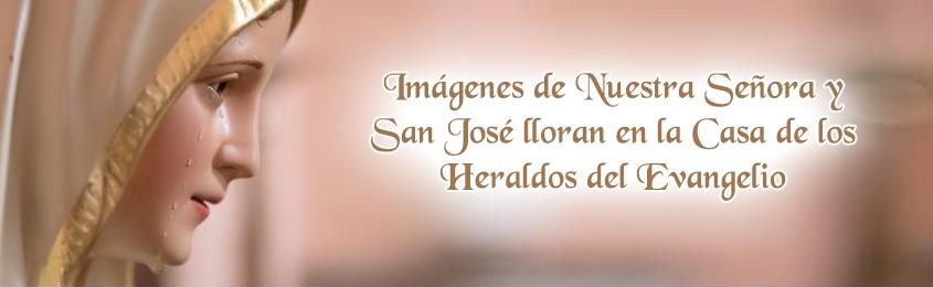 Imágenes de Nuestra Señora y San José lloran en la Casa de los Heraldos del Evangelio