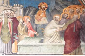 La resurrección de Lázaro, por Giovanni da Milano - Basílica de Santa Cruz, Florencia (Italia)