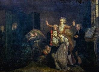 Los últimos momentos de Luis XVI, por Charles Benazech.